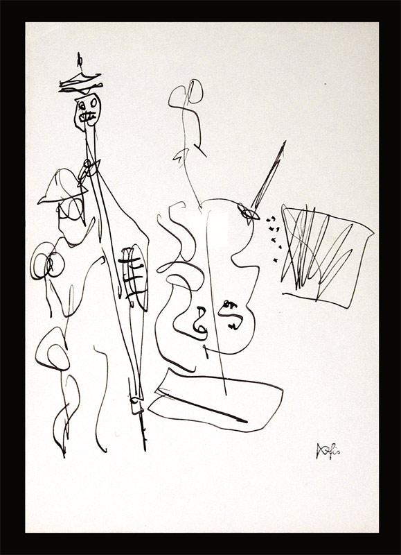 Fischer, Hans (1909 - 1958) genannt fis: - Cellist mit Kontrabassist.