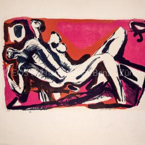 Behan, John  (*1938); - Lovers - Liegendes Liebespaar.