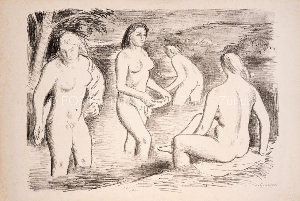 Gimmi, Wilhelm  (1886–1965); - Die Badenden.