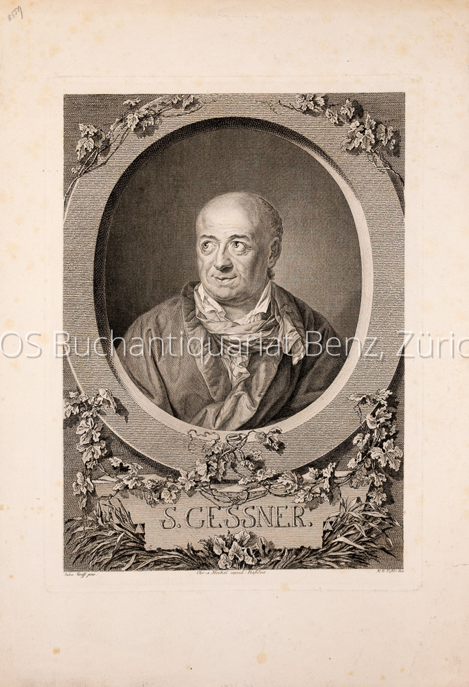 Gessner, Salomon (1730-1788): - Schweiz. Dichter, Maler und Kupferstecher.