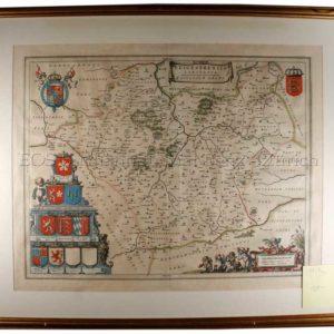 Blaeu, Joan (1599-1673): - Leicestrensis comitatvs, Leicester shire.