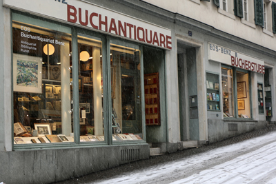 Kirchgasse in Zürich im Januar