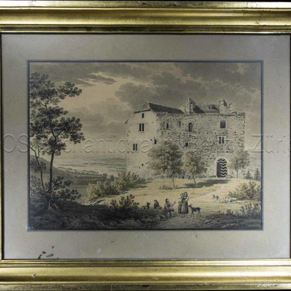 Meyer, Johann Jakob (1787–1855): - Schloss Habsburg.
