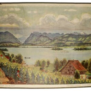Zbinden, Fritz (1896 - 1968): - Zürichseelandschaft - Lac de zürich - Paesaggio zurighese - Scene on the lake of zürich.