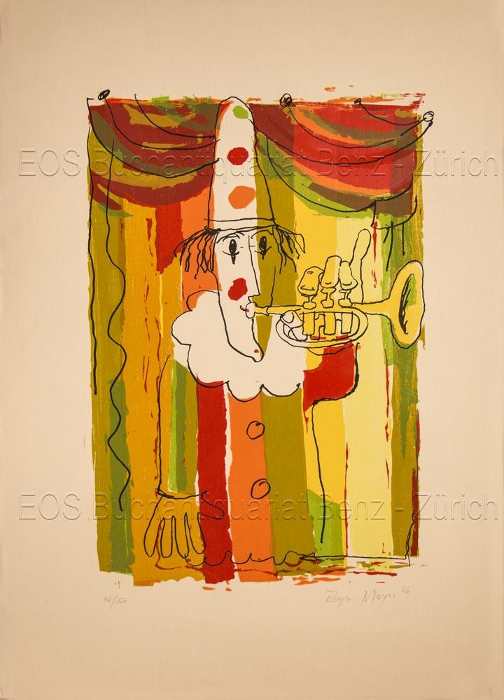 Mayer, Roger (*1928): - (Clown mit Trompete).